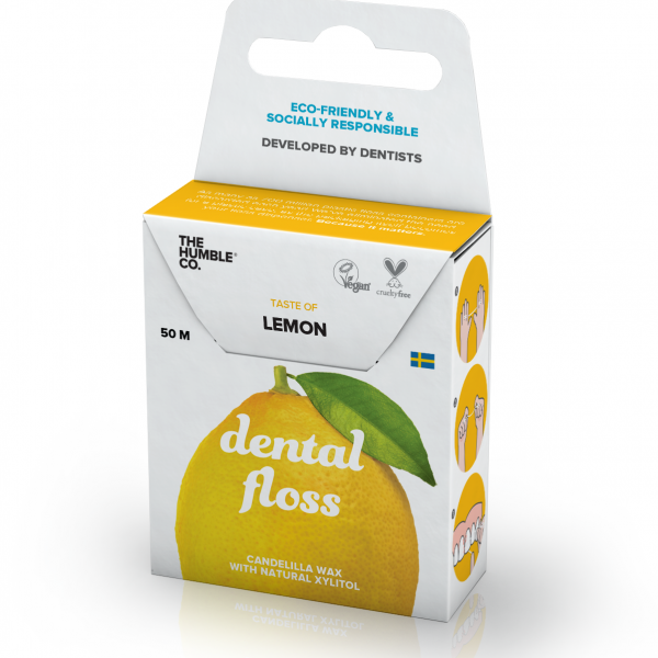 The Humble Co. Dental Floss - Lemon 50 metres - 12 Packs