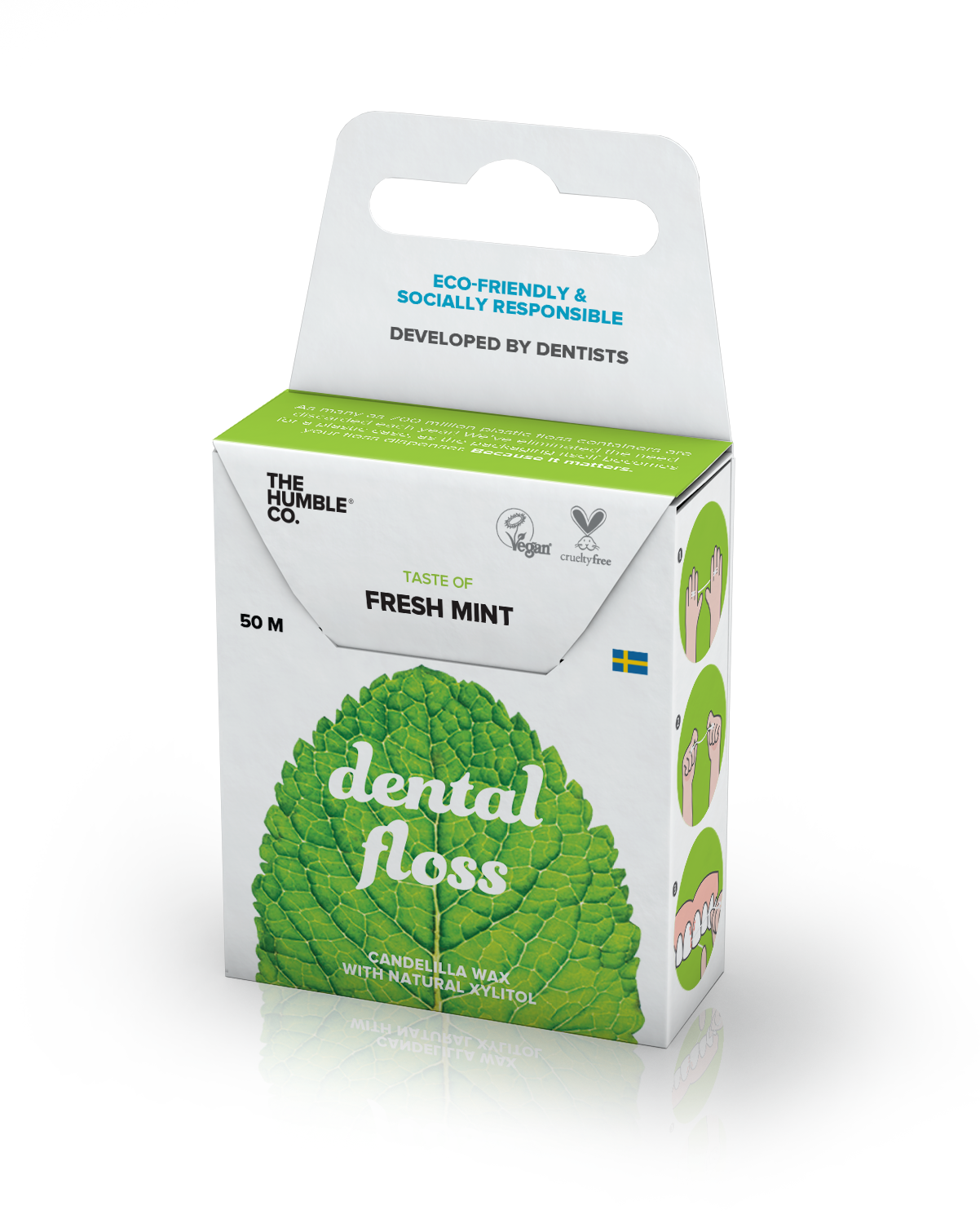 The Humble Co. Dental Floss - Mint 50 metres- 12 Pack