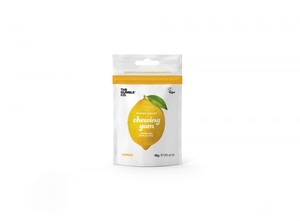 The Humble Co. Natural Chewing Gum - Lemon 10 pieces- 30 Pack Promo