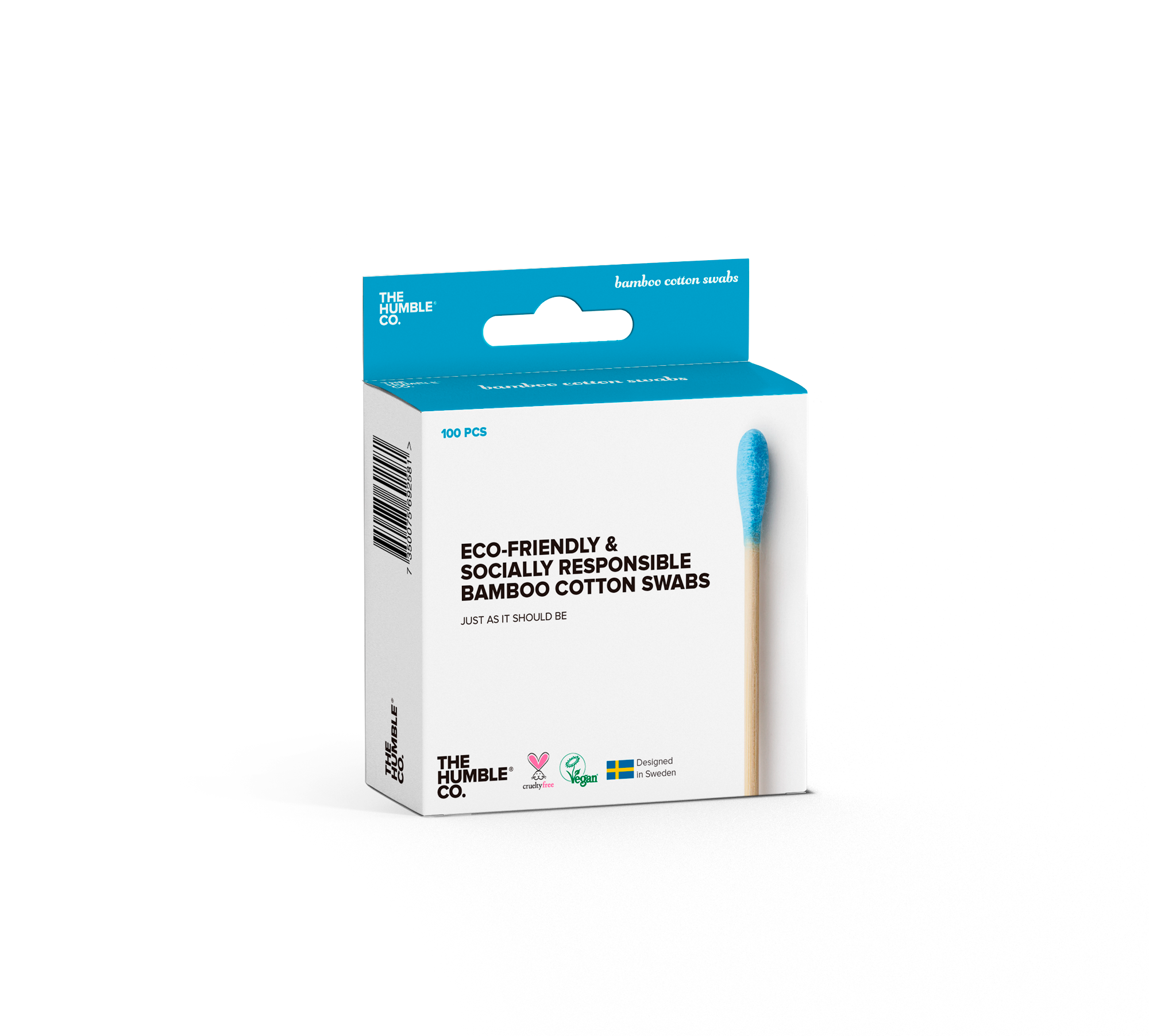 The Humble Co. Natural Cotton Swabs blue 100 pieces - 10 pack promo
